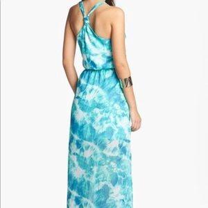 Nordstrom blue tie dye maxi dress